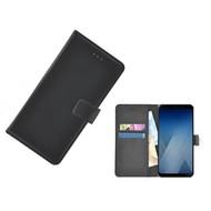 Wallet Bookcase voor Samsung Galaxy A8 2018 - Zwart effen