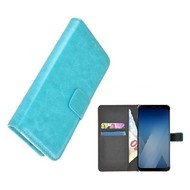 Wallet Bookcase voor Samsung Galaxy A8 2018 - Turquoise effen