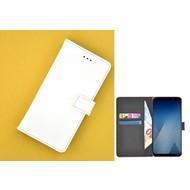 Wallet Bookcase voor Samsung Galaxy A8 2018 - Wit effen