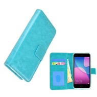 Wallet Bookcase voor Huawei Y6 Pro 2017 - Turquoise Fashion