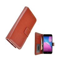 Wallet Bookcase voor Huawei P9 Lite Mini - Bruin Fashion