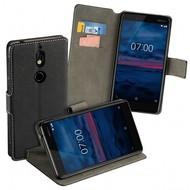 Zwart Y Wallet Bookcase voor Nokia 7