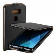 Zwart eco flipcase verticaal cover voor LG V30