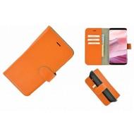 Pearlycase® Echt Leer Bookcase Samsung Galaxy S8 Plus - Oranje Effen