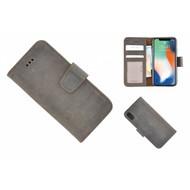 Pearlycase® Echt Leder Bruin Bookcase voor Apple iPhone X met kaarthouders