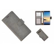 Pearlycase® Echt Leder Bruin Bookcase voor Samsung Galaxy Note 8 met kaarthouders
