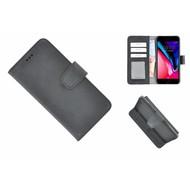 Pearlycase® Echt Leder Bookcase met kaarthouders voor iPhone 6(s) Plus - Zwart