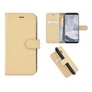 Pearlycase® Echt Leer Bookcase Samsung Galaxy S8 Plus - Ivoorkleur