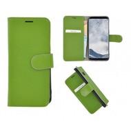 Pearlycase® Echt Leer Bookcase Samsung Galaxy S8 - Groen