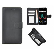 Zwart Fashion Wallet Bookcase voor Wiko U Pulse Lite
