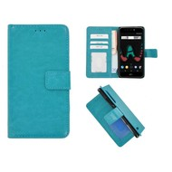 Turquoise Fashion Wallet Bookcase voor Wiko U Pulse Lite