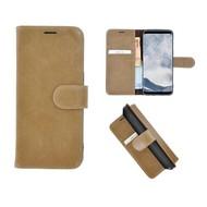 Pearlycase® Echt Leer Bookcase Samsung Galaxy S8 - Lichtbruin