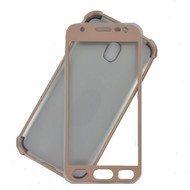 360° Full Body Softcase Hoesje voor Samsung Galaxy J3 2017 - Goud