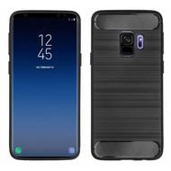 Zwart Geborsteld TPU Hoesje voor Samsung Galaxy S9