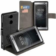 Zwart Y Wallet Bookcase voor Sony Xperia XA2