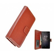 Bruin Fashion Wallet Bookcase voor Sony Xperia L2