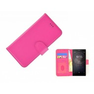 Roze Fashion Wallet Bookcase voor Sony Xperia L2