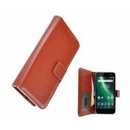 Bruin Fashion Wallet Bookcase voor Nokia 2