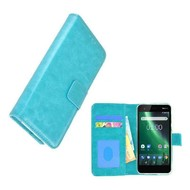 Turquoise Fashion Wallet Bookcase voor Nokia 2