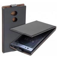 Zwart eco flipcase cover voor Sony Xperia XA2