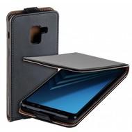 Eco Flipcase Cover Zwart Hoesje voor Samsung Galaxy A8 2018