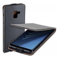 Eco Flipcase Cover Zwart Hoesje voor Samsung Galaxy A8 Plus 2018