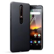 Zwart TPU Siliconen Case Hoesje voor Nokia 6 (2018)