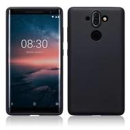 Zwart TPU Siliconen Case Hoesje voor Nokia 8 Sirocco