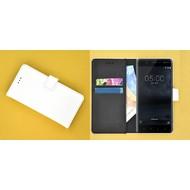 Wit effen Wallet Bookcase Hoesje voor Nokia 6 (2018)