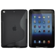 Apple iPad Mini - Siliconen Case Hoesje S-Style Zwart