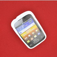 Samsung Galaxy Young - Tpu Siliconen Case Hoesje S-Style Wit