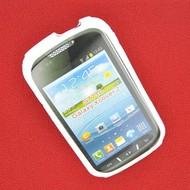 Samsung Galaxy Xcover 2 - Tpu Siliconen Case Hoesje S-Style Wit