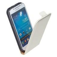 Samsung i9190 Galaxy S4 Mini- Lederlook Flip case hoesje Wit