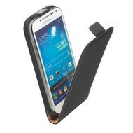 Samsung i9190 Galaxy S4 Mini- Lederlook Flip case hoesje Zwart