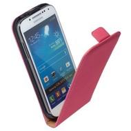 Samsung i9190 Galaxy S4 Mini- Lederlook Flip case hoesje Roos