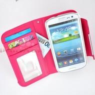 Samsung Galaxy S3 Mini - Wallet Bookstyle Case Uitneembaar Hoesje Roze