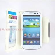 Samsung Galaxy S3 Mini - Wallet Bookstyle Case Uitneembaar Hoesje Wit