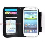 Samsung Galaxy S3 Mini - Wallet Bookstyle Case Uitneembaar Hoesje Zwart