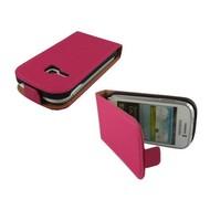 Samsung Galaxy Young - Flip Case Cover Hoesje Leder Roze