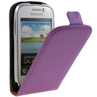Samsung Galaxy Young - Flip Case Cover Hoesje Leder Paars