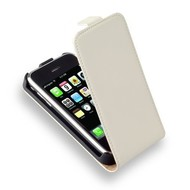 Apple iPhone 3G/3GS - Leder Flipcase Cover Hoesje Wit