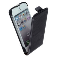 Apple Iphone 5 / 5S - Flip Case Cover Hoesje Y Leder Zwart