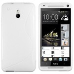 HTC One Mini - Tpu Siliconen Case Hoesje S-Style Wit