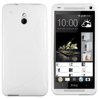 HTC One Mini - Tpu Siliconen Case Hoesje S-Style Wit