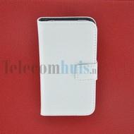 Apple iPhone 4/4S - Wallet Book Case/ hoesje Slim -Wit