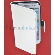 Samsung i9190 Galaxy S4 Mini- Wallet Book Case / hoesje Slim -Wit