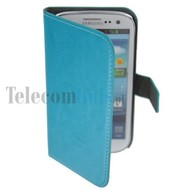 Samsung i9190 Galaxy S4 Mini-Wallet Book Case / hoesje Slim-Turquoise