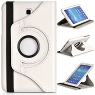 Samsung Galaxy TAB 3 (10.1) - Hoes 360° Draaibare Case Lederlook Wit