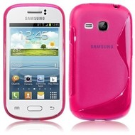 Samsung Galaxy Young - Tpu Siliconen Case Hoesje S-Style Roze