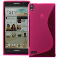 Huawei Ascend P6 - Tpu Siliconen Case Hoesje S-Style Roze